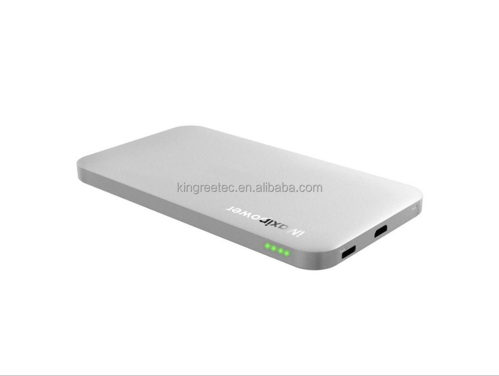 Super Slim Power Bank Pack Portable External Battery Charger for Apple & Android Devices Charging