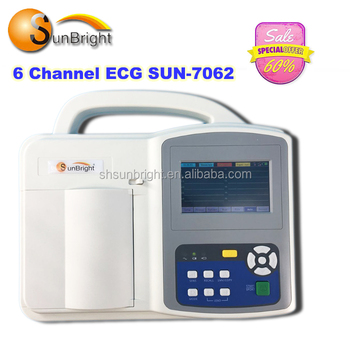 Chinese supplier cheap price manufacture 6 channel electrocardiograph ECG machine