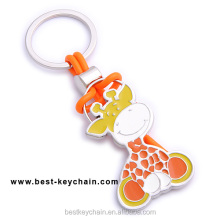 hot sales custom giraffe shaped metal cartoon keychain (BK10786)