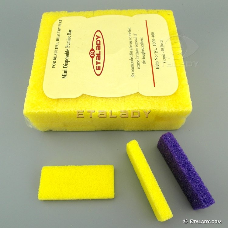EL-D451-PY-Y disposable pumice sponge block