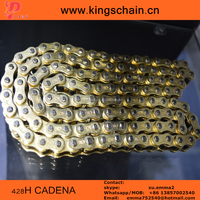 Chinese Oro color copper plated 428H 128L motorcycle CADENA