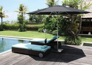 lounger with umbrella