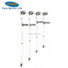 Hot Sales Adjustable Aluminum Canadian Elbow Crutches with PVC handle for disabled people