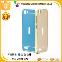Credit guarantee mobile phone PC aluminium metal bumper case for vivo y27