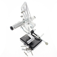 Rear Sets for KAWASAKI motorcylce silver color billet aluminum alloy runmei factory cnc parts