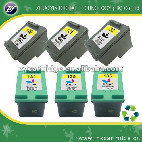 Hot selling remanufactured ink cartridge for HP 129, 131, 132, 134,135, 136
