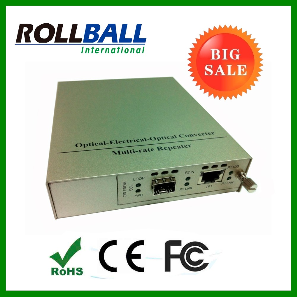 10G optical media converter RJ45 to XFP SFP+ copper to fiber