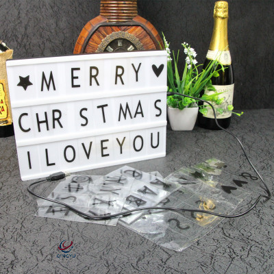 LED Christmas Xmas Wedding Party Holiday Fairy Letter Light Lamp DIY Light Box For Home Decoration
