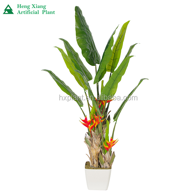 Artificial HX0103923 potted banana garden plant trees for decoration