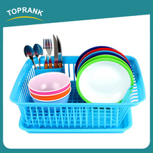 Toprank Kitchen Accessories Durable Plastic Dish Drying Rack Dish Drainer Rack Kitchen Sink Dish Drainer With Tray