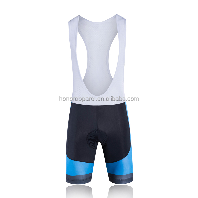 Free design Breathable sublimation OEM design adults custom cycling wear blue color