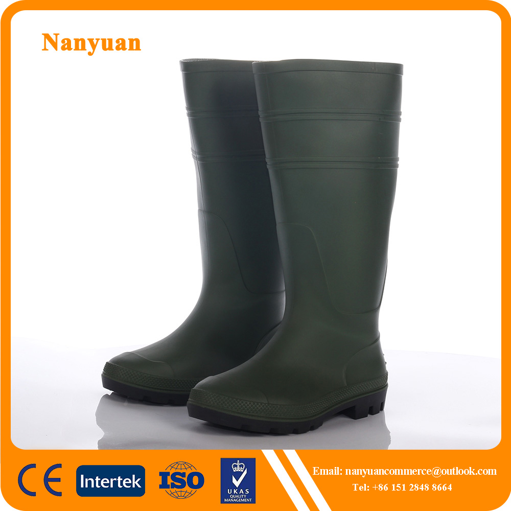 Industrial safety light duty waterproof PVC working boots