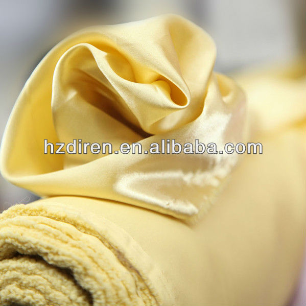 light yellow polyester taffeta ribbon fabric