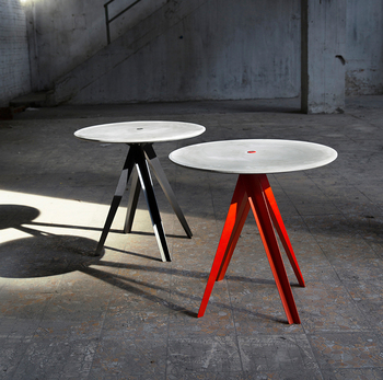 WAN round table cement product design by BENTU