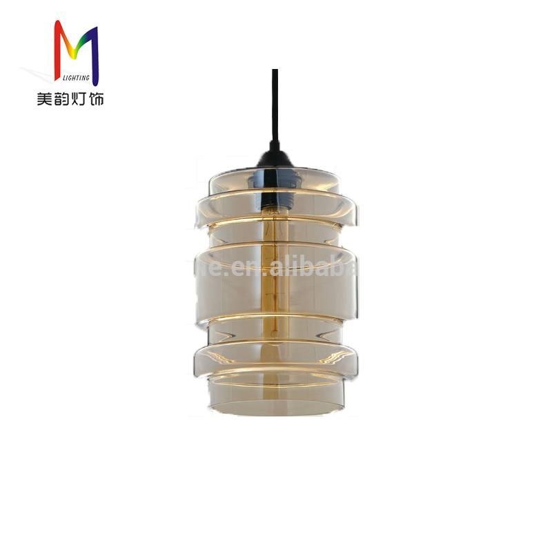 Modern Glass Jar Suspension Kitchen Lamp Led Pendant Light