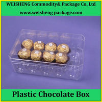 Super Clear Recyclable chocolate plastic container