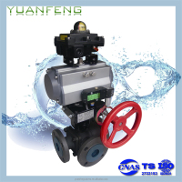 ZSQR REGULATOR Pneumatic shut off 3-Way ball valve