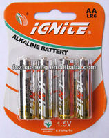 LR6 size AA AM3 1.5V alkaline battery