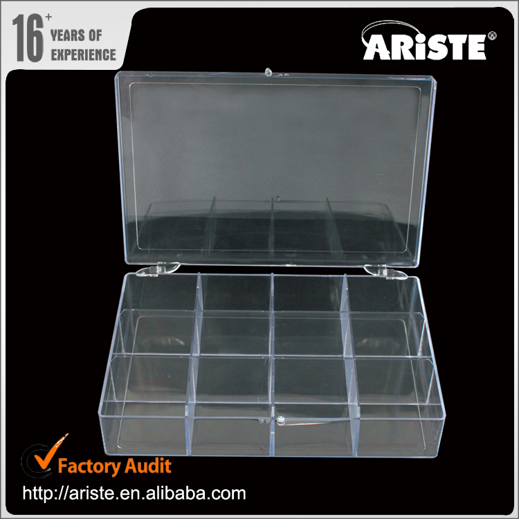 21983 Plastic storage containers 19x12.7x4cm acrylic eyelash extension case plastic multi foldable storage box
