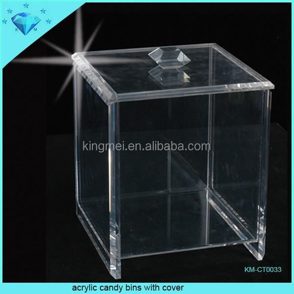 Whole high quality cheap price acrylic candy bins and box and containers