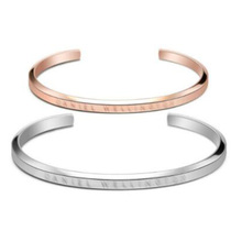 Fashion Design Couple 316L Stainless Steel Engraved Open Cuff Bracelet Wholesale