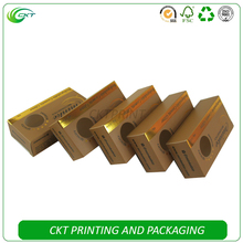 Custom Brown Gold Cosmetic Glitter Paper Packaging boxes