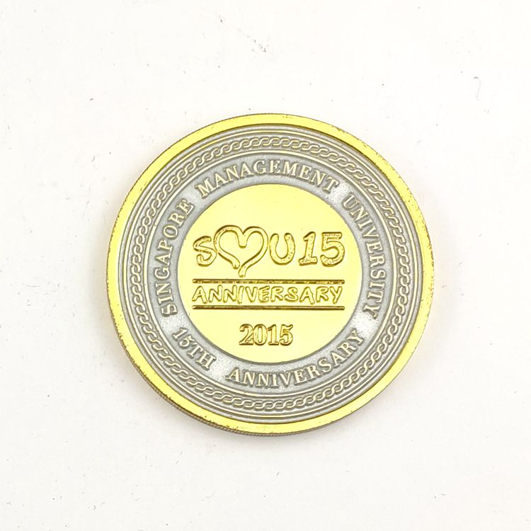 Factory Wholesale high quality custom  logo gold metal coin