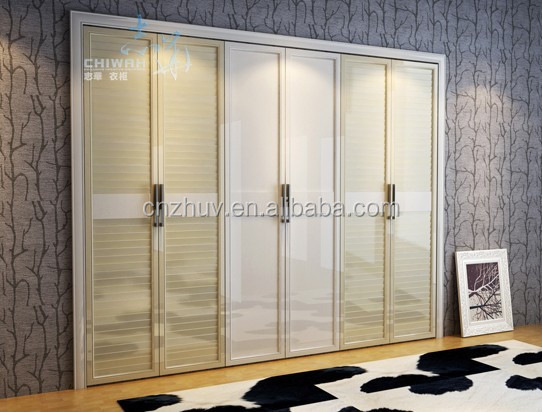latest wardrobe wooden door design