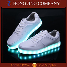 Cheap unisex simulation led sport shoes with USB rechargeable