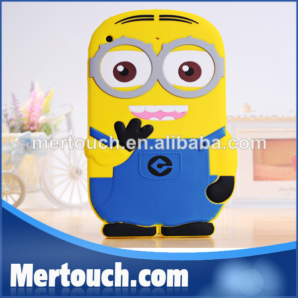 Cute Despicable Me For iPad 2 3 4 3D Cartoon Minion Case