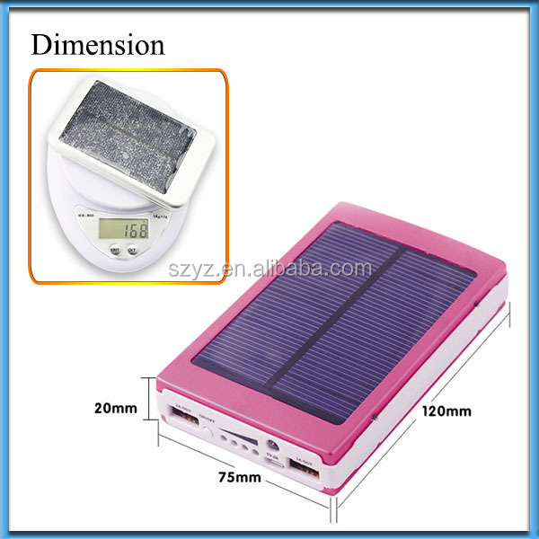 30000mAh Portable Solar Energy Power Bank Charger for Netbook iPad Galaxy tab iphone Moblie Phone MP4/PSP/NDS