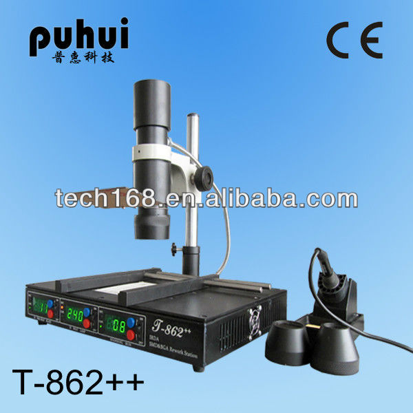 T862++ BGA rework station/repair samsung/laptop motherboard/reballing machine/irda welder/taian puhui