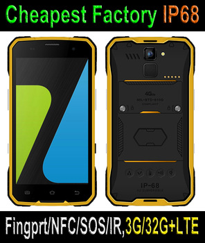Cheapest 4.7 Inch MT6735 Quad-core Android5.1 outdoor waterproof smartphone with fingerprint scanner