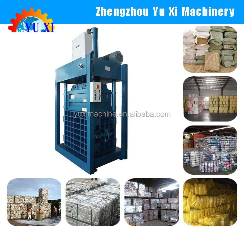 High working efficient hydraulic vertical type baler machine / hydraulic full automatic baler press
