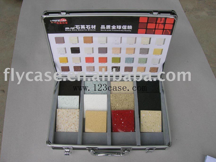 2015 novelty design,the best quality ,style fashion stone sample display Aluminum case