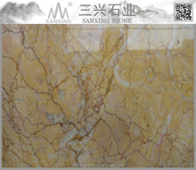 Spring Sun natural marble from iran countertop slab flooring tile