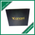 Custom Black Rigid Carton Protect Grey Board Hard Black Paper Gift Box With Hot Stamping