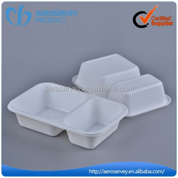 Good Quality disposable inflight product plastic bread trays with dividers