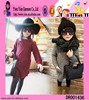 Wholesale Fashion Children Winter Knitted Dress Red Gray Children Winter Knitted Dress