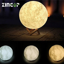 Facotry LED Table Night Lunar Shaped Portable Light 3D Moon Lamp