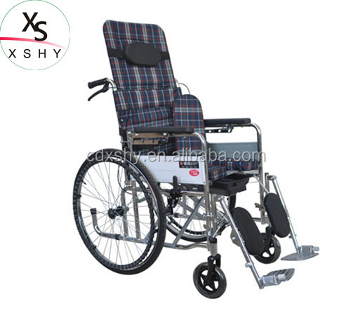 Oxford cloth Light weight foldable cheapest wheelchair with manual break
