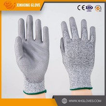 Xinhong Hot sale PU coated nylon gloves EN388 4131 CE approved ladies nylon gloves
