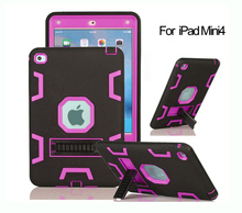Durable scratchproof rubber hybrid grip case for iPad mini 4