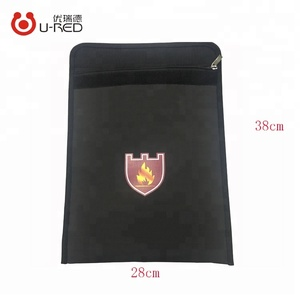 Customizable double layer fireproof material to protect important files from fireproof document bag