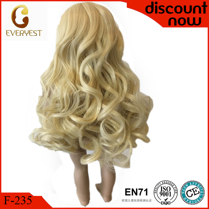 silky long curly blonde 18 inch journey girl doll wigs