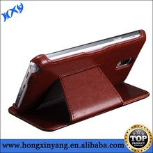 Popular sublimation leather case for samsung NOTE 3,printing your logo is available