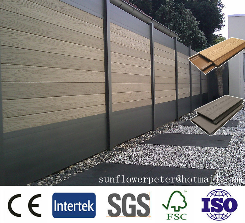 White antiseptic wood plastic composite decking, waterproof laminate flooring, outdoor deck floor covering, wpc decking