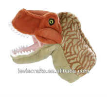 soft plush orange T-rex dinosaur hand puppet toy