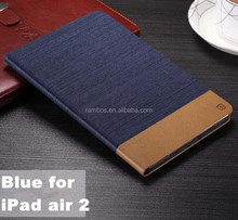 Jean style leather case with card slot Custom printed case for IPAD2/3/4