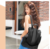 fashion pu leather travel backpack women girls school laptop bagpack